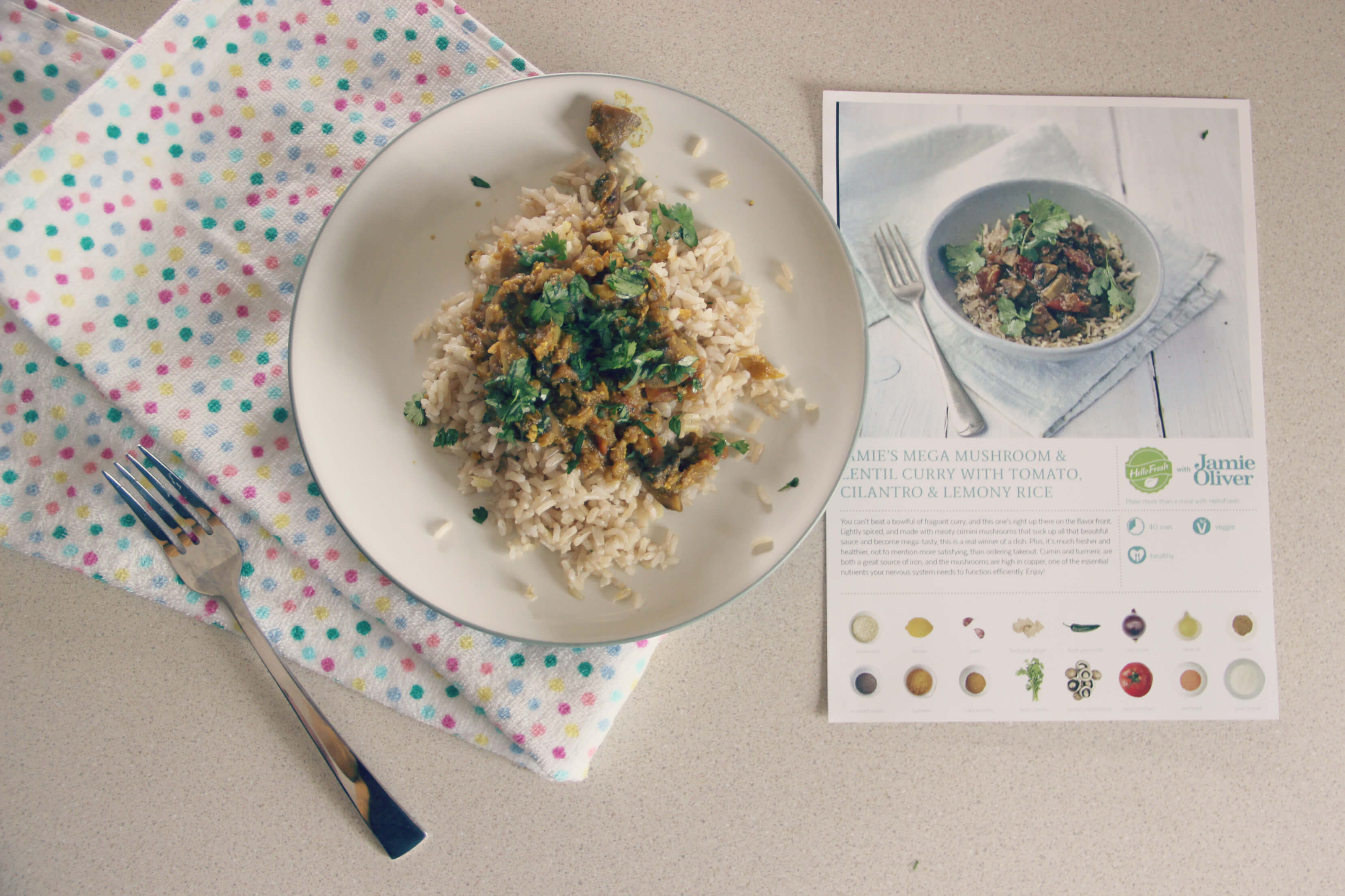 hellofresh Jamie's Mega Mushroom & Lentil Curry