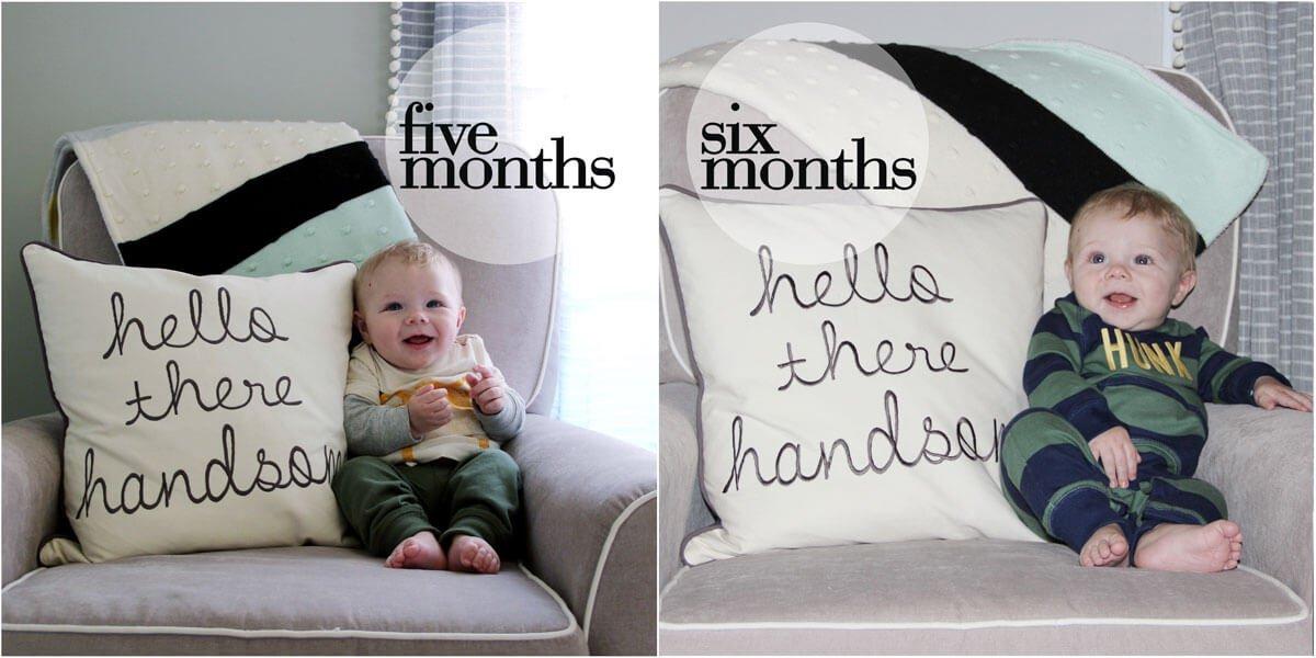 Ben 5 & 6 months old
